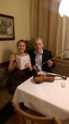 Zeitlesung mit Violinistin Katharina Auer